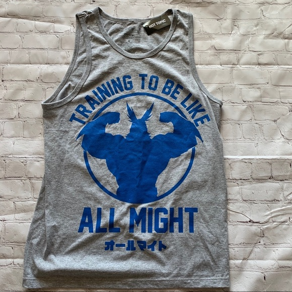 All Might My hero academia Muscle Tee M NWT